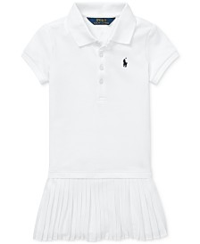 Polo Ralph Lauren Little Girls Pleated Mesh Polo Dress