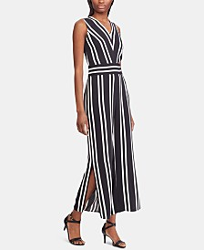 Lauren Ralph Lauren Stripe-Print Sleeveless Twill Jumpsuit