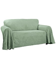 P/Kaufmann Home Plush Damask Throw Sofa Slipcover