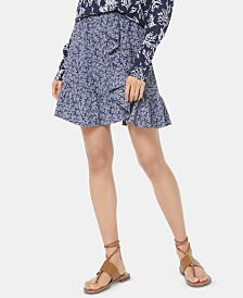 MICHAEL Michael Kors Ruffled Reef-Print Skirt, Regular & Petite