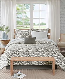 Sia Queen 9-Pc. Reversible Complete Bedding Set with Cotton Sheet