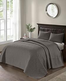 Quebec 3-Piece King Quilted Bedspread Set