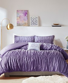 Intelligent Design Ellen Full/Queen 4-Pc. Ombre and Ruched Comforter Set