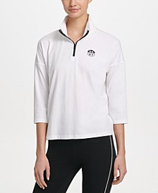 Sport Mock Neck Half-Zip Top