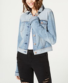 American Rag Juniors' Cotton Two-Tone Denim Jacket, Created for Macy's