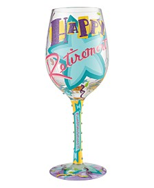 Enesco Lolita Happy Retirement Wine Glass