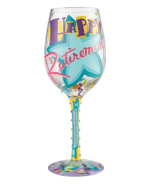 Enesco Lolita Happy Retirement Wine Glass