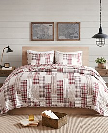 Montana Full/Queen 3-Piece Reversible Patchwork Coverlet Set