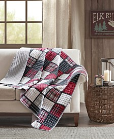 "Woolrich Tulsa 50"" x 70"" Oversized Plaid Print Cotton Quilted Throw"