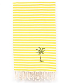 Linum Home Fun in the Sun Breezy Palm Tree Pestemal Beach Towel