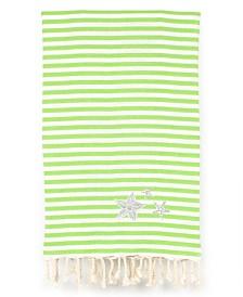 Linum Home Fun in the Sun Glittery Starfish Pestemal Beach Towel