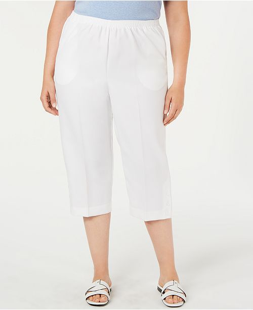 Alfred Dunner Plus Size Classic Pull-On Capris