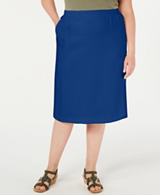 Alfred Dunner Plus Size Classic Pencil Skirt