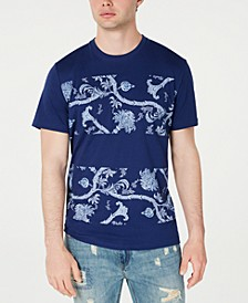 Men's Colorblocked Floral T-Shirt, Created for Macy's