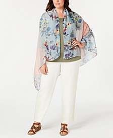 Orchid Bloom Ombré Chiffon Scarf