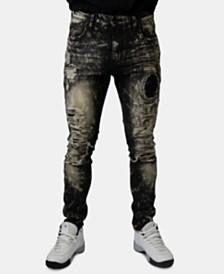 Heritage America Men's Skinny-Fit Stretch Destroyed Jeans