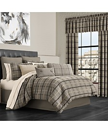 J Queen Sutton Charcoal King Comforter Set