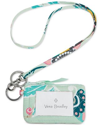 Vera Bradley Iconic Zip ID Lanyard