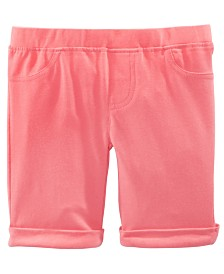 Epic Threads Little Girls Solid Bermuda Shorts, Created for Macy's
