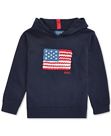 Polo Ralph Lauren Little Girls Flag Hooded Sweater
