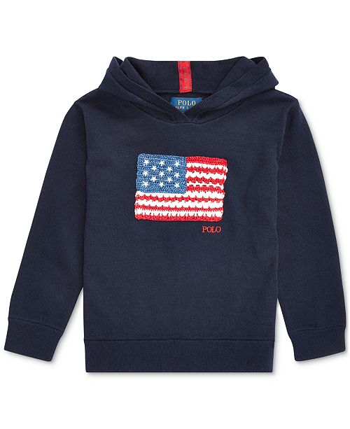 Polo Ralph Lauren Toddler Girls Flag Hooded Sweater