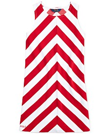 Polo Ralph Lauren Big Girls Chevron Stretch Ponté Knit Dress