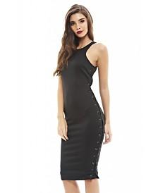 AX Paris Lace Up Side Bodycon Dress