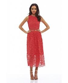AX Paris Sleeveless Lace Midi Dress