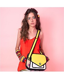 JumpFromPaper Fun and Playful 2D Shoulder Bag