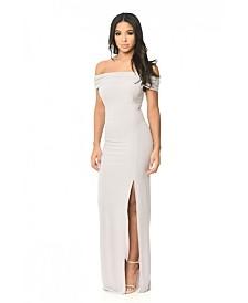 AX Paris Off the Shoulder Slinky Maxi Dress