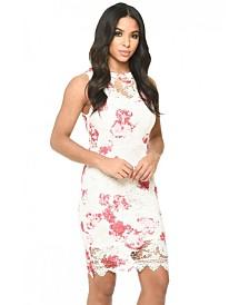 AX Paris and Floral Lace Bodycon Dress