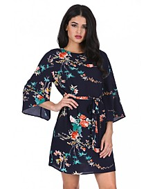 AX Paris Floral Print Tie Waist Dress