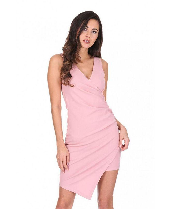 AX Paris V-Neck Wrap Skirt Dress