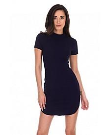 Curved Hem Bodycon Mini Dress