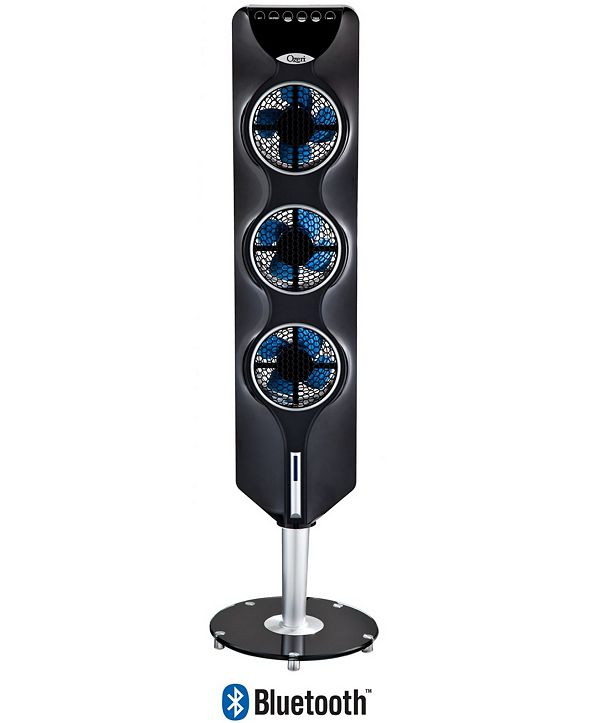 """Ozeri 44"""" 3x Tower Fan with Bluetooth and Passive Noise Reduction Technology"""
