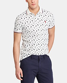 Polo Ralph Lauren Men's Classic-Fit Sail Boat Mesh Polo Shirt