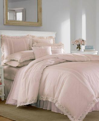 Annabella Pastel Pink Duvet Set, Full/Queen