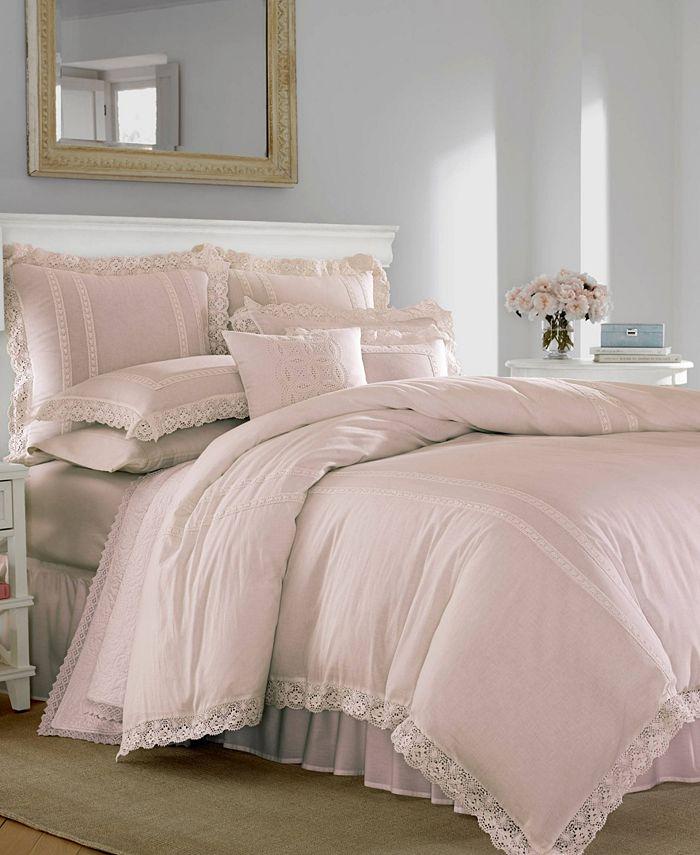 Laura Ashley - Annabella Pastel Pink Duvet Set, Full/Queen