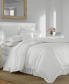 Annabella White Comforter Set, Full/Queen
