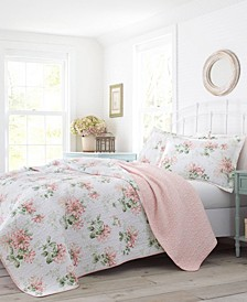 Honeysuckle Blush Quilt Set, Full/Queen