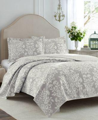 Rowland Grey Quilt Set, Twin