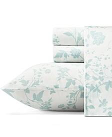 Garden Palace Pastel Blue Sheet Set, King