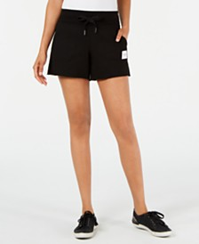 Calvin Klein Performance Ribbed-Waist Raw-Hem Shorts