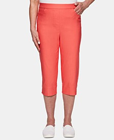 Coastal Drive Straight-Leg Capri Pants