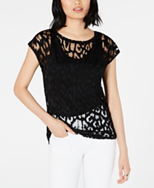 Bar III Burnout Top, Created for Macy's