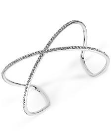Givenchy Crystal Pavé Crossover Cuff Bracelet