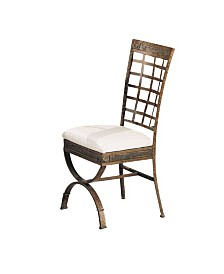 Egyptian Upholstered Side Dining Chair, Set of 4