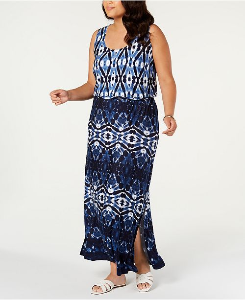 INC International Concepts I.N.C. Plus Size Ombre Maxi Dress, Created For Macy's