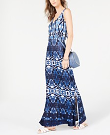 I.N.C. Blouson Tie-Dye Maxi Dress, Created for Macy's