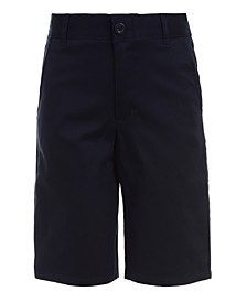 Big Boys Husky Hunter Flat-Front Stretch Twill Shorts